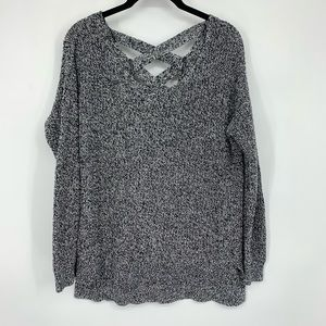 Lane Bryant Marled Gray Pullover Sweater